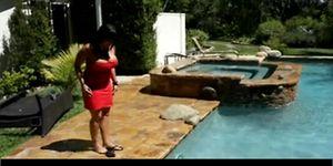 Ava fucked in pool