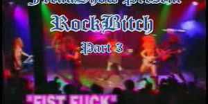 Rock bitch onstage fist fuck congratulate, your