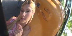 Blonde fucked on bus