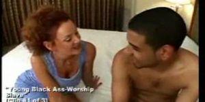 interracial ass milf - Sexy milf wife mother hardcore interracial ass worship