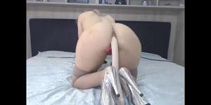 huge anal dildo stockings