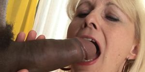 Blonde mature sucking