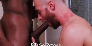 Manroyale interracial dick sucking ass eaters