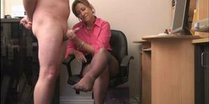 British Hand Job Porn