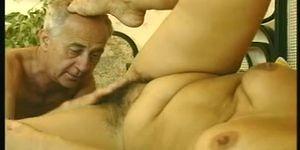Hairy mature threesome