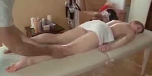 Hot Ass Lovely Teen Oil Massage Tricked To Fuck Doggystyle On Tab