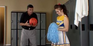 Fucked cheerleader by coach getting