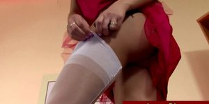 Glam matures dressing and undressing