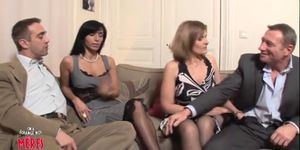 French Foursome Porn