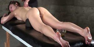 Anal oily massage