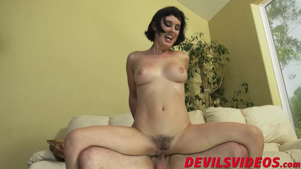 Good looking slut enjoys having her hairy cunt banged hard