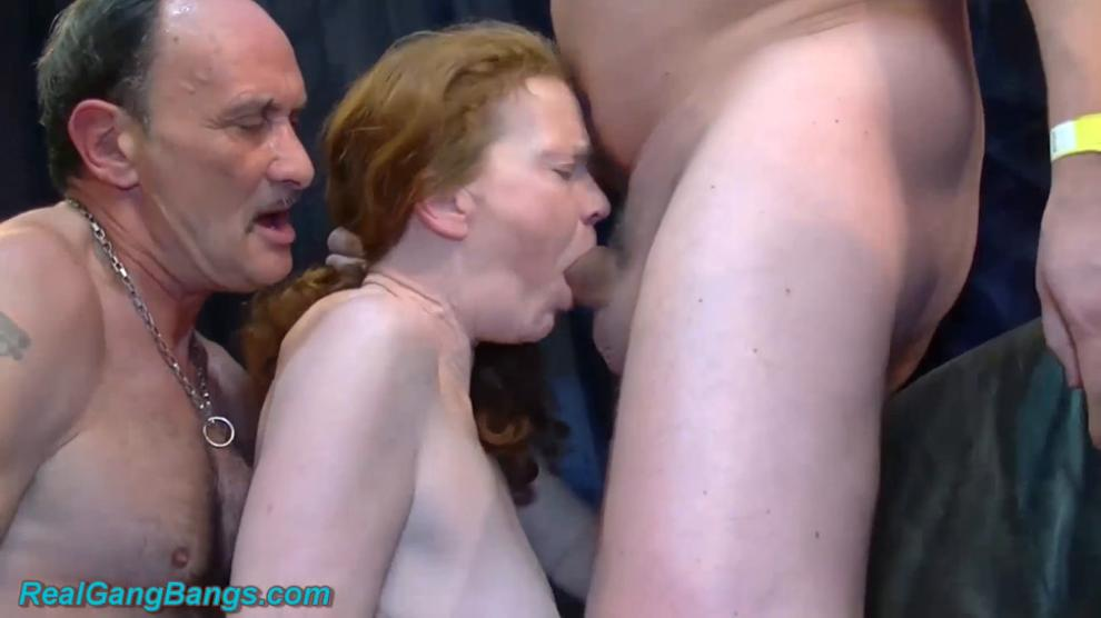 redhead curvy granny enjoys her first extreme rough german swinger fist and fuck groupsex party less