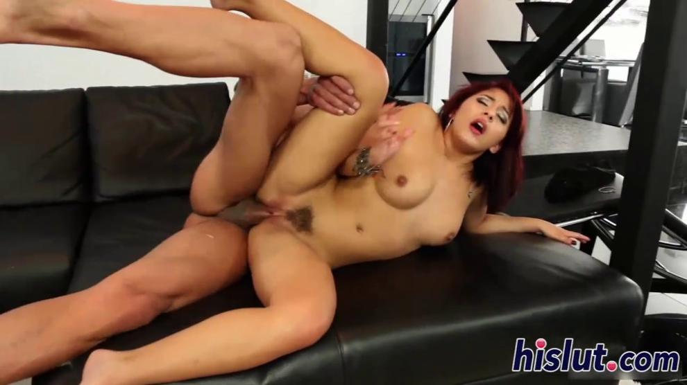 Redhead senorita gets her pussy hammered hard