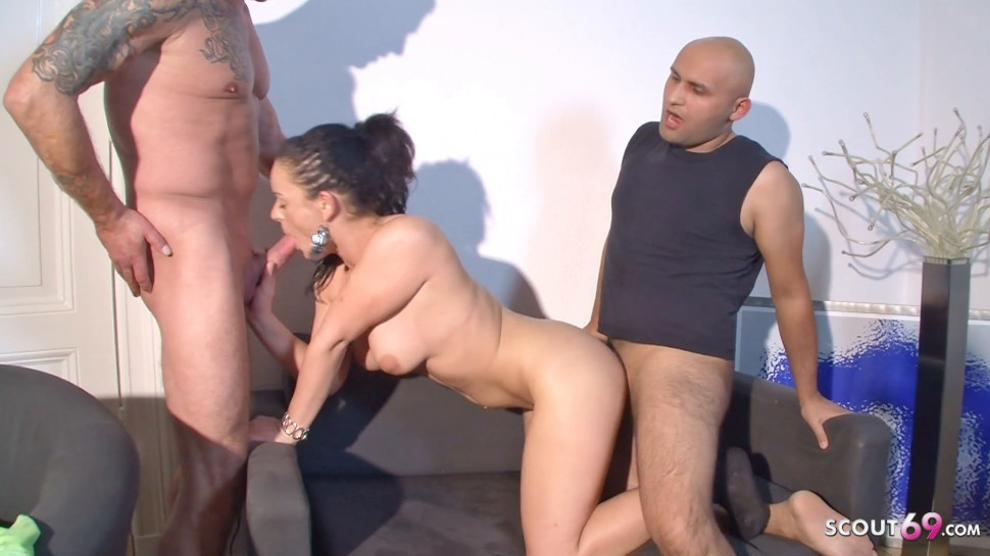 SCOUT69 - Cuckold Swap German Wife Lisa with Stranger at MMF Threesome