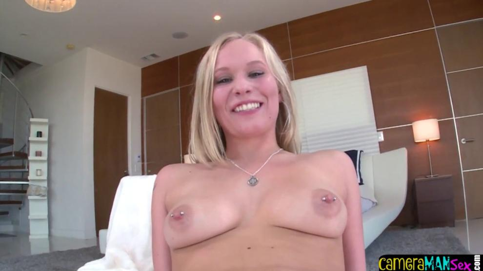BANGBROS - Busty POV blonde babe takes amateur dick