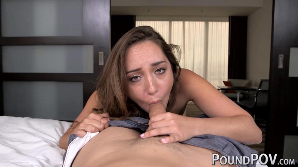 POUND POV - Petite Remy LaCroix sucks and rides fat cock in POV