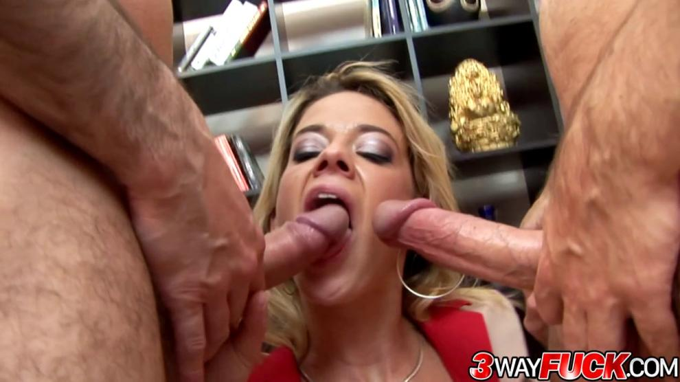 3 Way Fuck - French Delivery Girl Chloe Delaure Serves Her Pussy and Ass