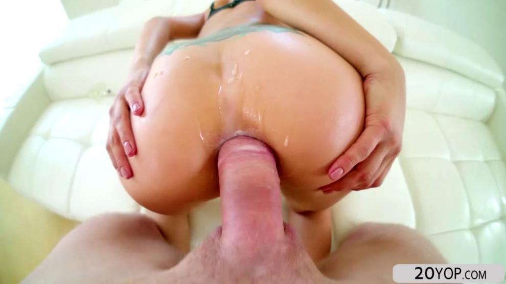 Pretty chick Saya Song recieves a tight anal pounding