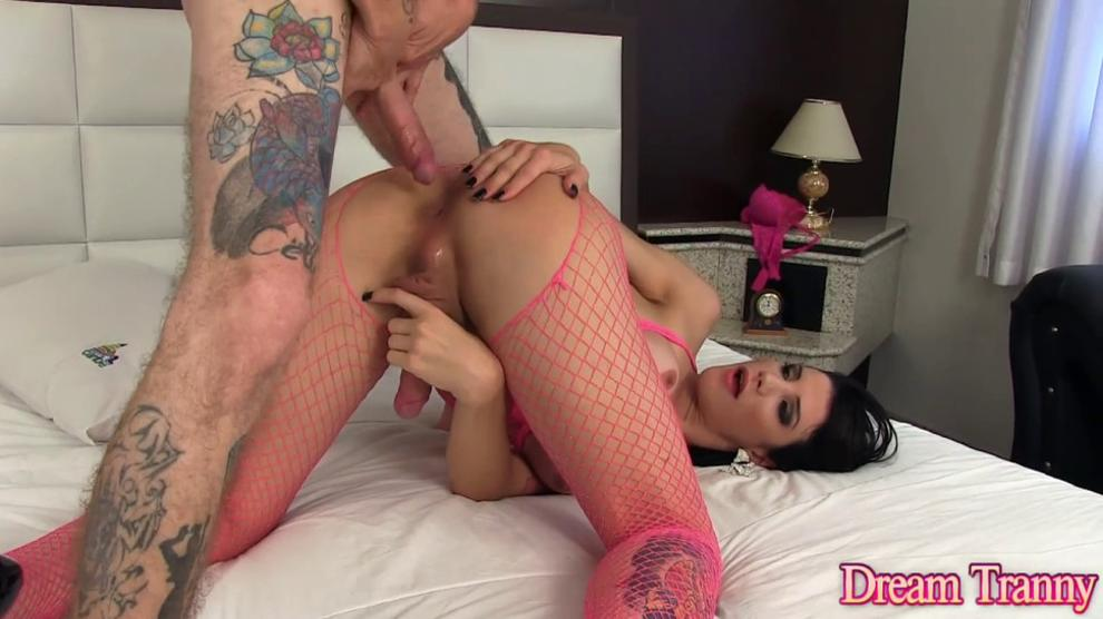 TS Goddess Victoria Carvalho and a Lucky Guy Take Turns Drilling Each Other