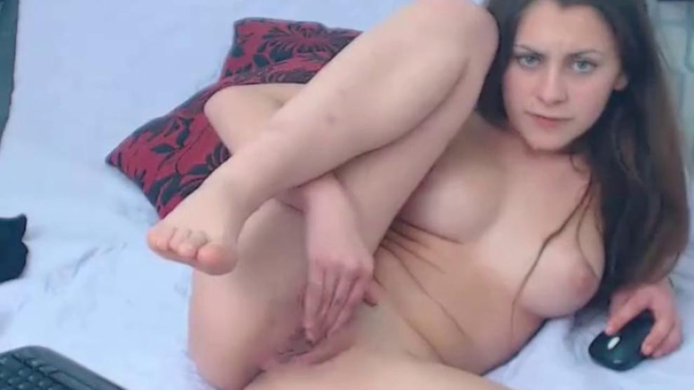 Busty Teen Cant Stop Rubbing Her Pussy