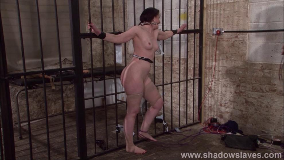 SHADOW SLAVES - Slave Caroline Pierces frontal whipping and tied dungeon bondage of spanked fetish model in hardcore bdsm