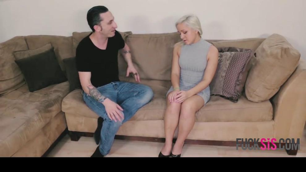 Teaching My Sis To Suck Cock - video 1