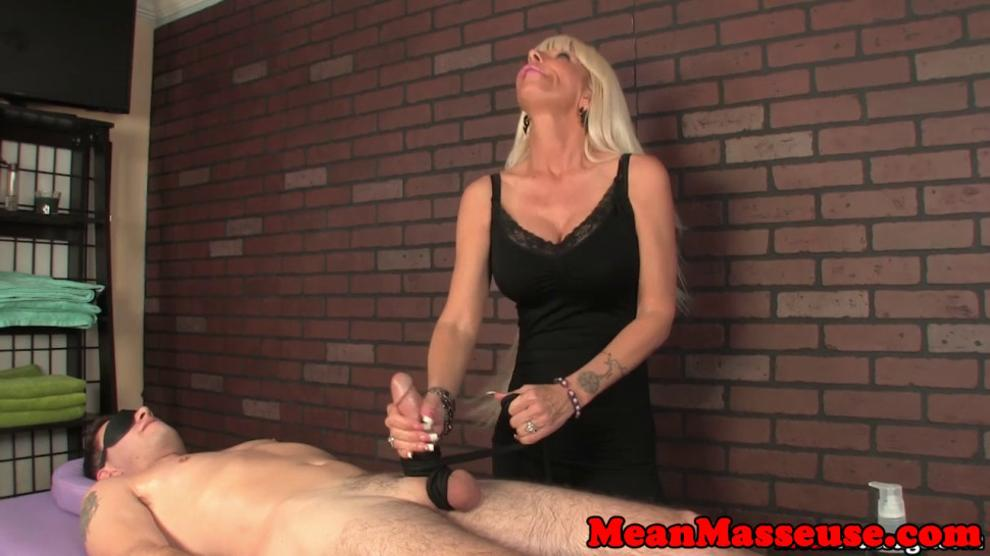 MEANMASSAGE - Nasty massage MILF jacks off cock