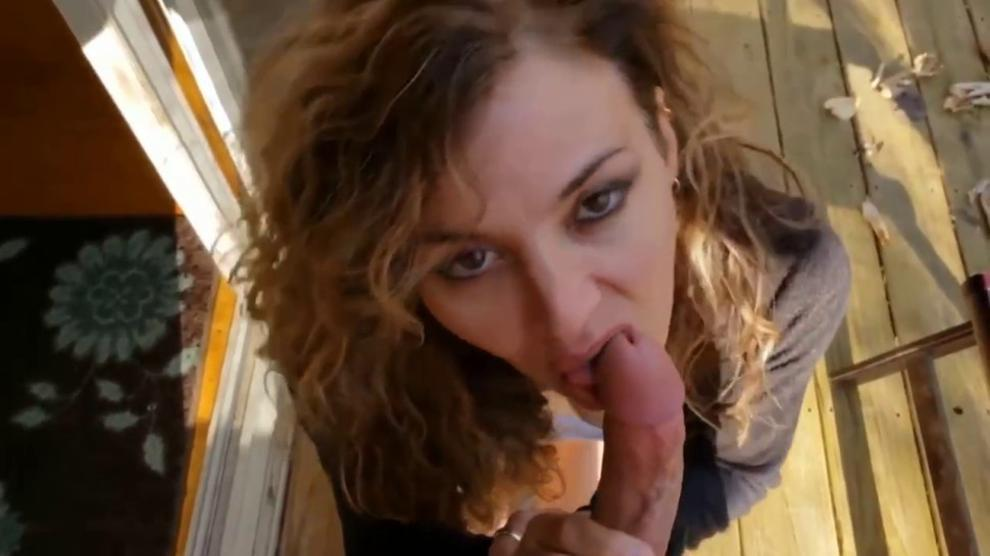 Stunning Hot Milf Sucking My Hard Cock