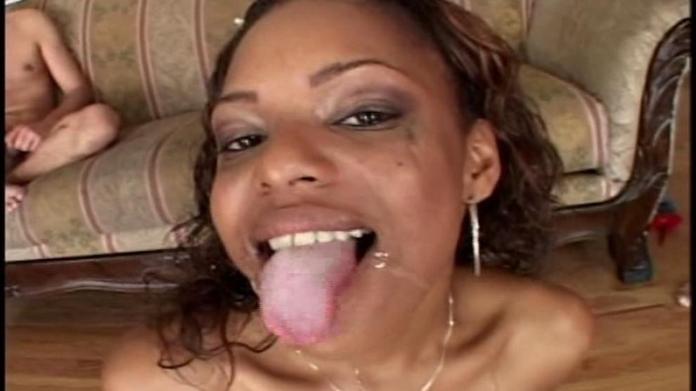 NOCUMDODGINGALLOWED - Dirty Ebony Babe Swallows Jizz