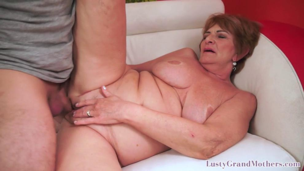 Big booty grandma enjoys riding hard cock