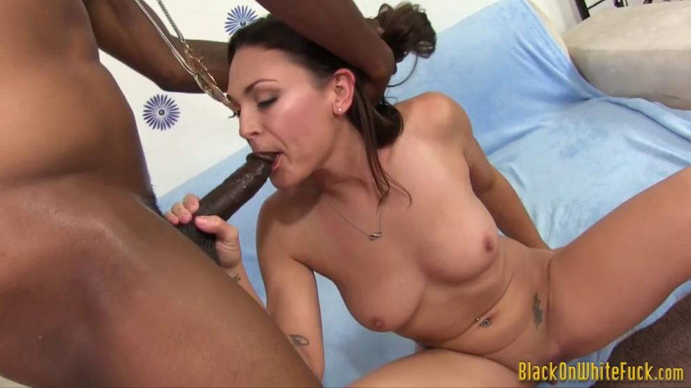 Slut Sucks Black Schlong Then Gets Fucked