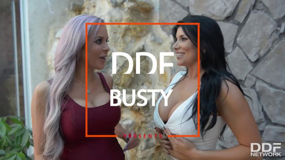 Big Titty Milfs Romi Rain & Nina Elle Deepthroat & Eat Pussy in Threesome