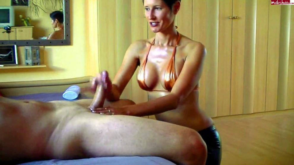 forced spanking Femdom milking