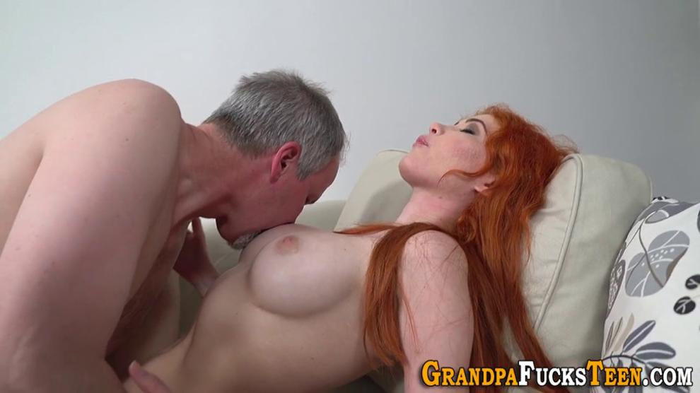 Redheaded Teen Gets Pussy Creamed