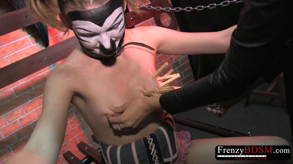 Bizarre Clamps Sadism and Chain Bondage
