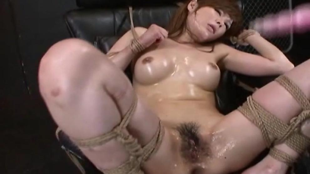 Blowjob redhead on her knees