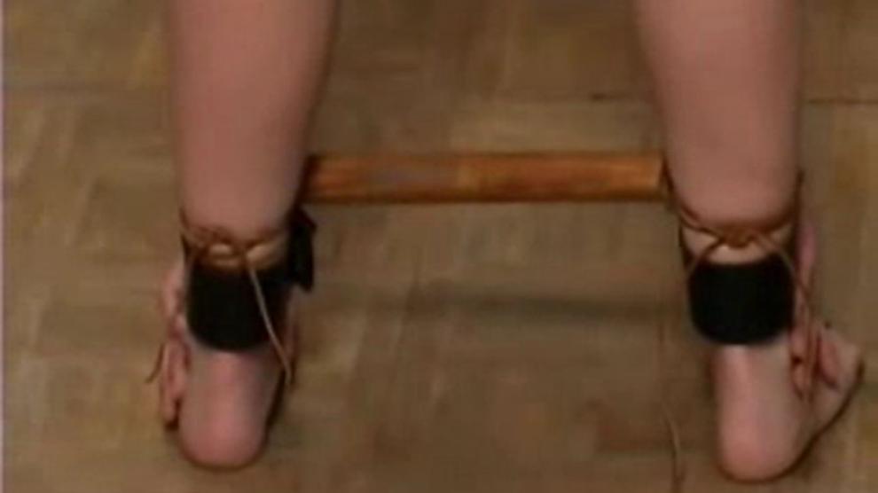 Nylon handjob with pantyhose