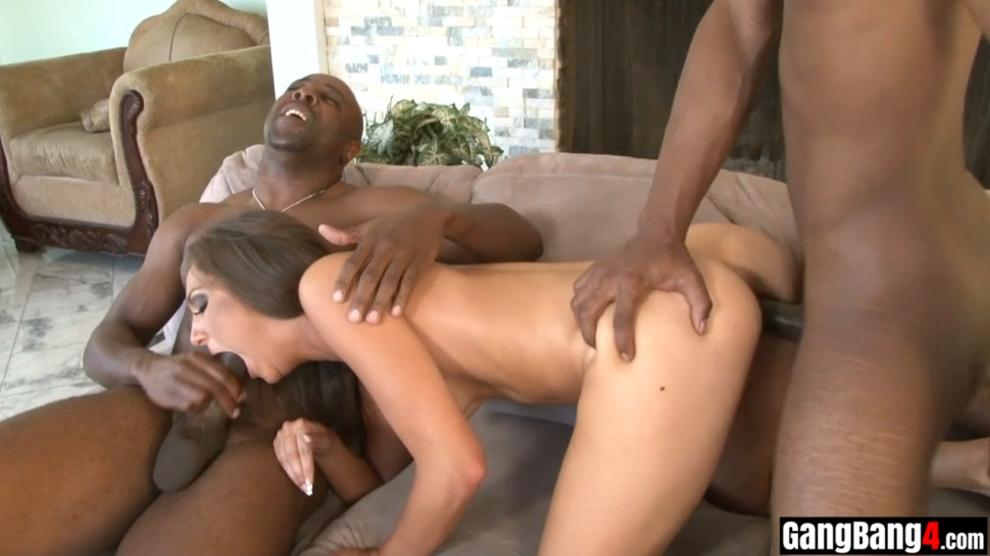 Naive Kiera King Used by A Bunch of Big Black Cocks