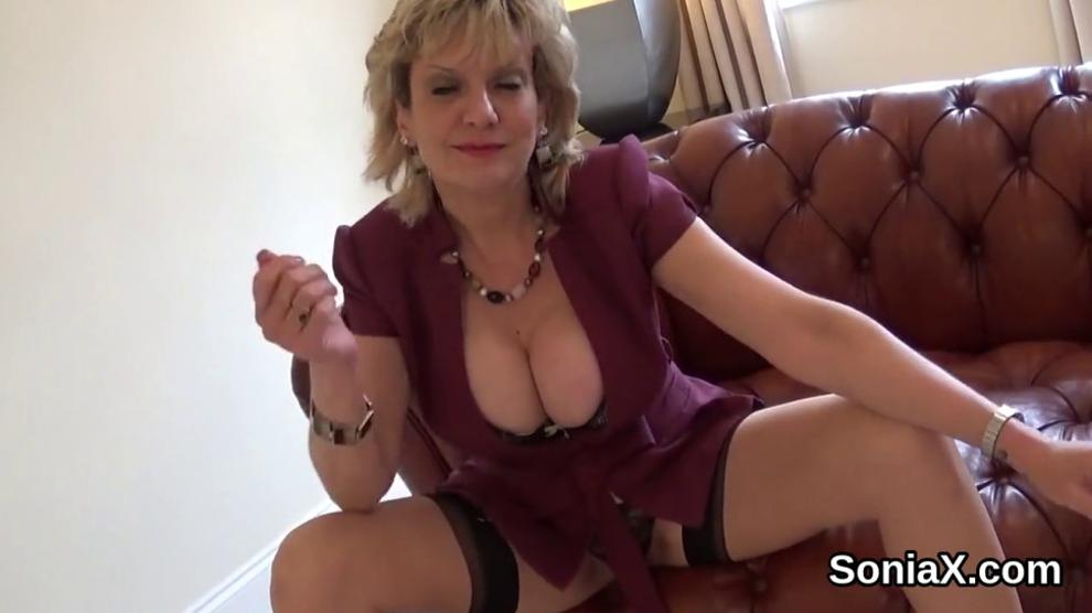 Cheating british milf gill ellis displays her enormous hooters