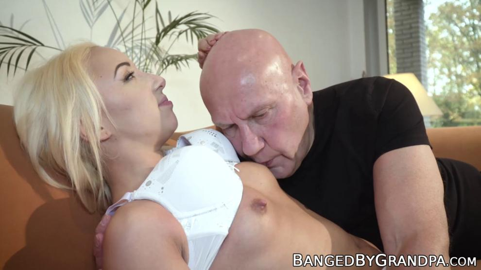 BANGED BY GRANDPA - Naughty Teen Babe Tastes Old Man Cock and Cum