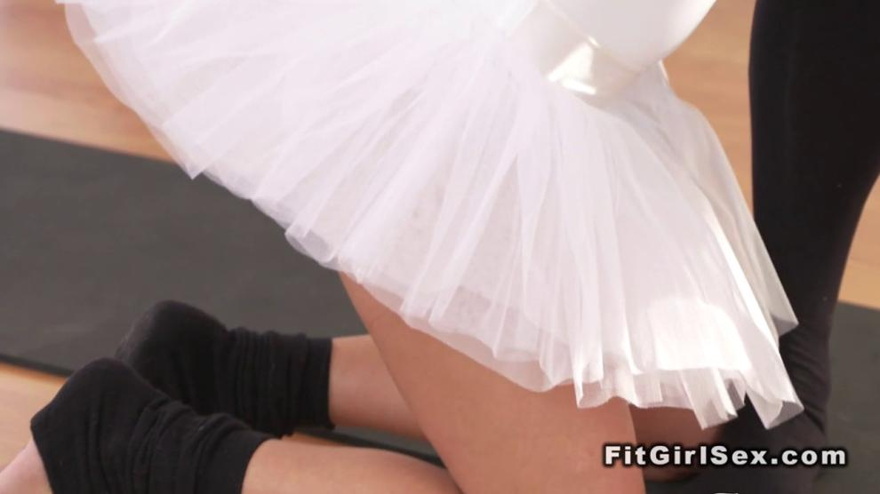 Two ballerinas in threesome oral and fuck