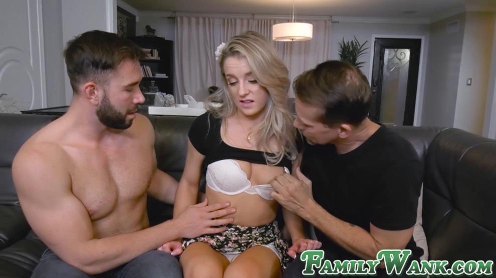 Pretty Babe Kate Kennedy Enjoys Two Forbidden Cocks