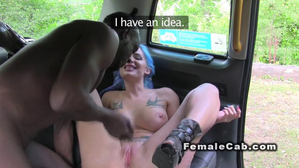 Black dude anal fucks busty cab driver