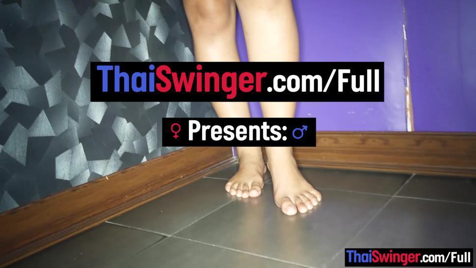 THAI SWINGER - Bubble butt amateur Asian teen massage porn with a happy end