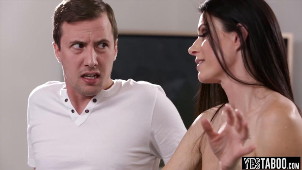 India Summers new stepson needs some serious cuddling - video 1