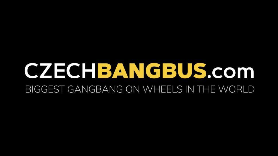 CZECH BANGBUS - MILF Gets Hardcore Gangbang in Bus
