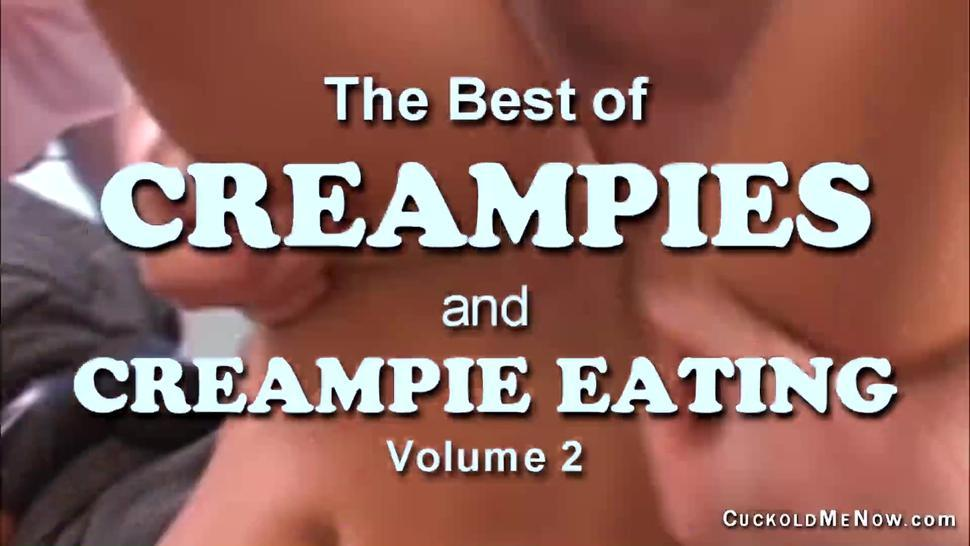 Best of Creampies and Creampie eating vol 2 Hot wives cuckold their slaves and eat creampies too