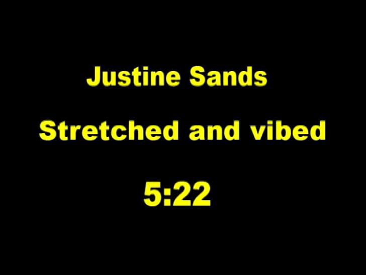 Justine Sands stretched bondage