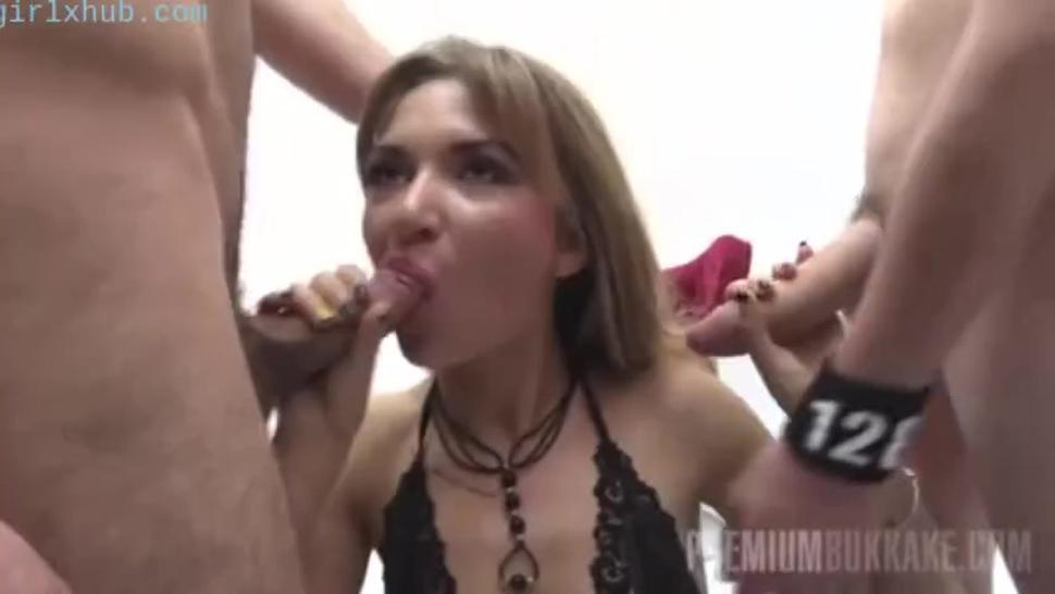 blooper premium bukkake katy swallows 75 huge mouthful cumshots bitch curly haired