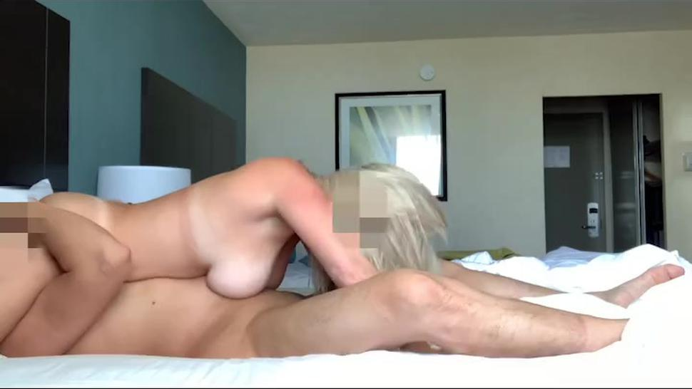 Hot Blonde MILF saves a horse, rides her Asian and then some and lets him cum inside her! AMWF